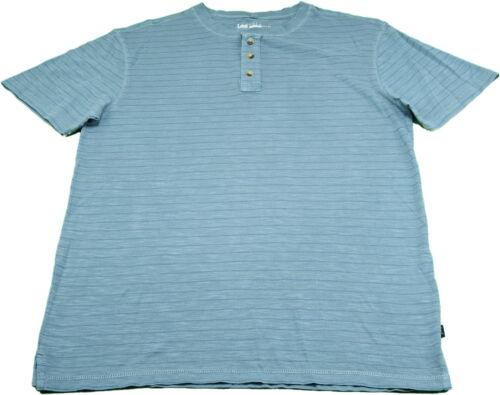 Lee Mens Vintage Wash SS Texture Henley Shirt