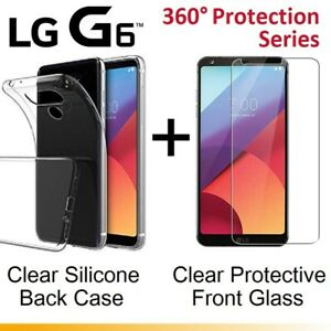 Front-and-Back-Full-Clear-Tempered-Glass-Screen-Protector-Gel-Case-for-LG-G6