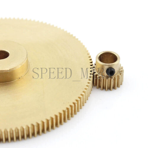 0.5M120-20T Module 0.5 Motor Metal Gear Wheel Set Kit Ratio 6:1 Wheelbase 35mm