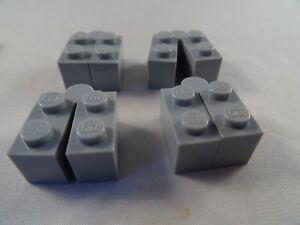 LEGO-3830C01-LIGHT-GREY-1-x-4-HINGE-SWIVEL-BRICK-x-4