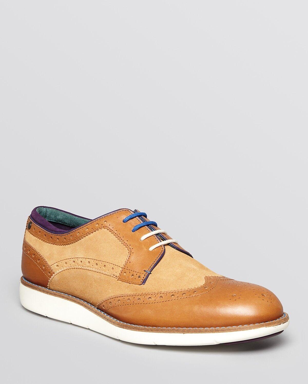 Ted Baker Para Hombre punta del ala Oxford estilo Extralight Suela Zapato Bajo De Cuero Zapatos Talla 13