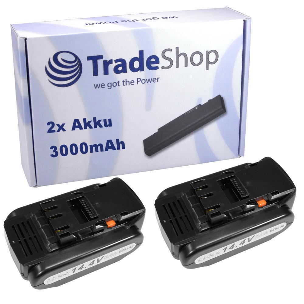 2x AKKU 14,4V 3000mAh Li-Ion für Panasonic EY3640 EY3641 EY3740 EY3741 EY4541
