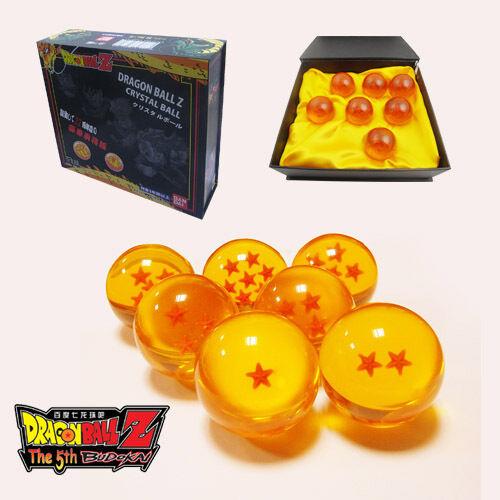 7x JP Anime Dragon Ball DragonBall Z Stars small Crystal 3 cm Ball Set BN