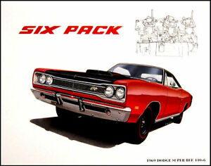 1969-Dodge-Super-Bee-440-6-Pack-Art-Print-Lithograph