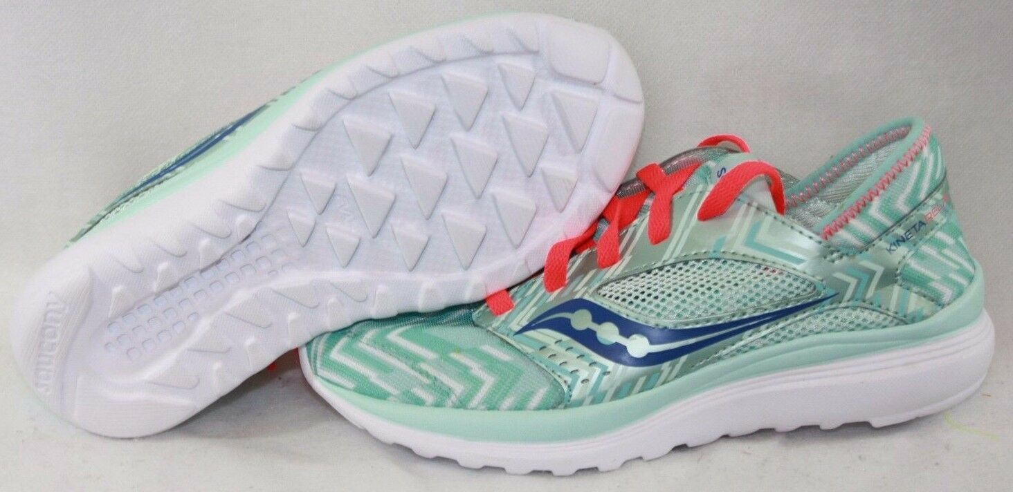 NEW Womens SAUCONY Kineta Relay S15244-12 Mint Green Blue White Sneakers Shoes
