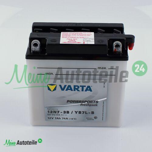 ORIGINAL VARTA MOTORRAD BATTERIE 12V 7AH 12N7-3B YB7L-B YAMAHA SR YBR RAPTOR NEU