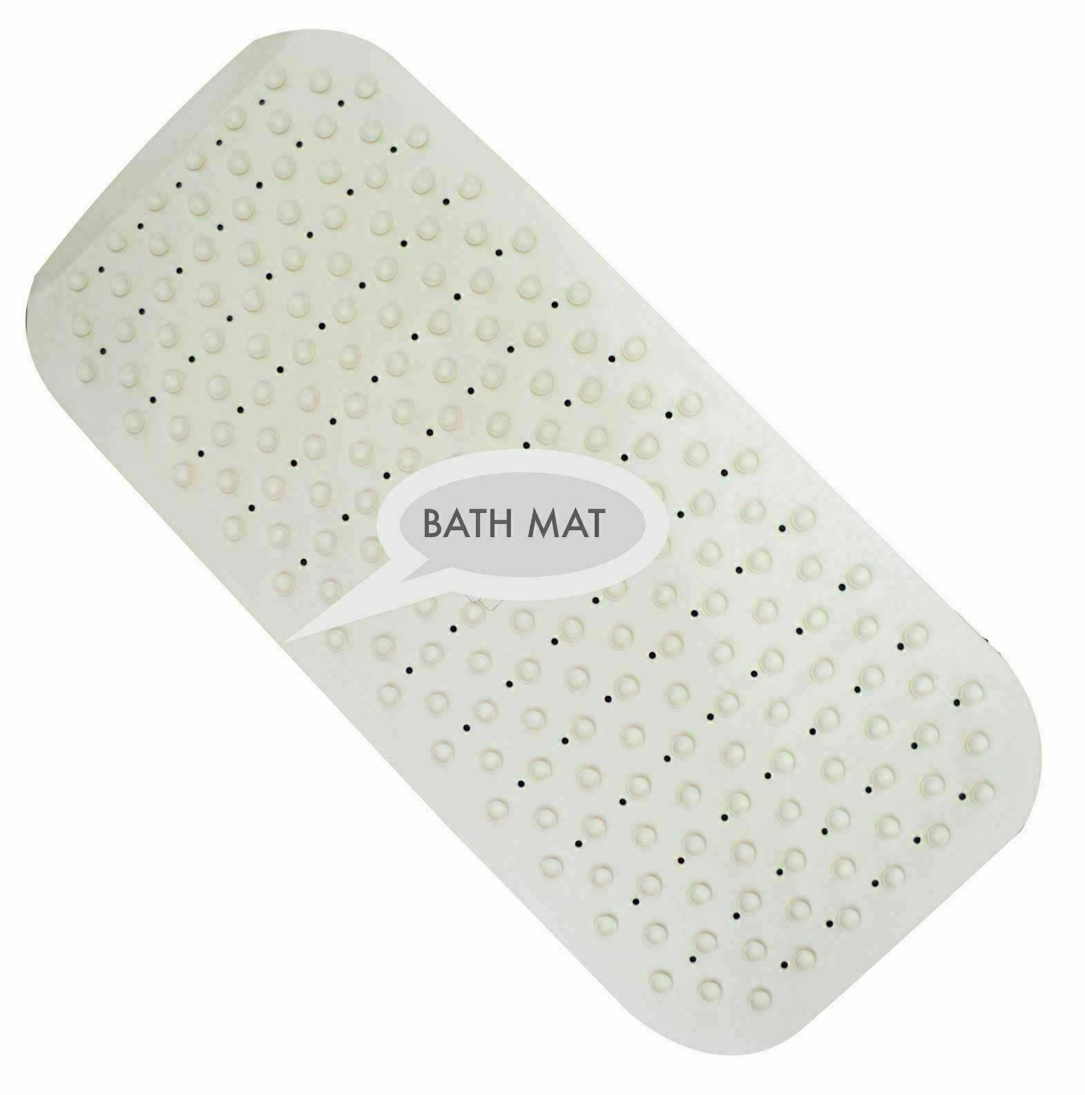 Extra Long Soft Rubber Grip Strong Suction Non-Slip Anti All Bath Shower Mat UK