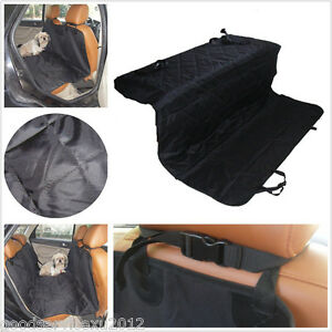 Washable Black Vehicle Rear Seat Dog Comfortable Cover