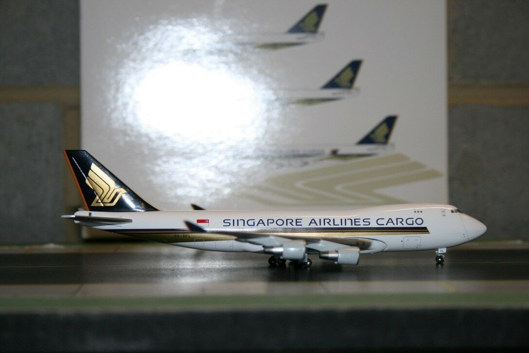 Jet-X 1:400 Singapore Airlines Cargo Boeing 747-400F 9V-SFL  JX601B  Model Plane