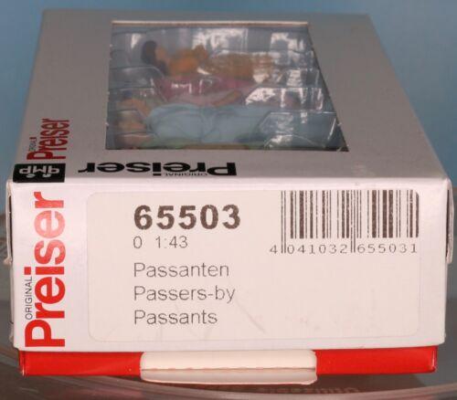 1:45 Spur 0  1:43,5 Preiser 65503 passers-by Passanten Passants