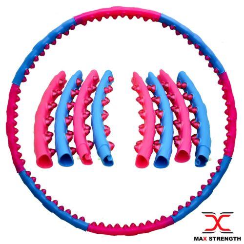 Max Strength Weighted Hula Hoop Fitness Abs Exercise Gym Workout 1.4kg Hoola
