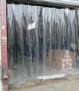 Image is loading PLASTIC-DOOR-STRIP-CURTAIN-10ft-x-10ft-12- & PLASTIC DOOR STRIP CURTAIN 10ft x 10ft 12\