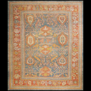 Antique Oushak Rug 11 9 X 14 Ebay