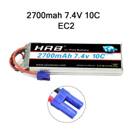 HRB Lipo Akku 2s 2200mah 2700mah 6000mah Batterie 10C-50C for Hubsan H501S Drone