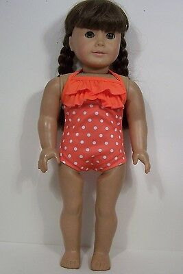 """BLUE w//White Polka Dot SwimSuit Doll Clothes For 18/"""" American Girl Dolls Debs"""