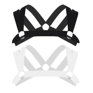 Uomo-elastico-petto-spalla-Harness-Cintura-Corpo-Cinturino-con-Fibbia-Punk-partito-Clubwear