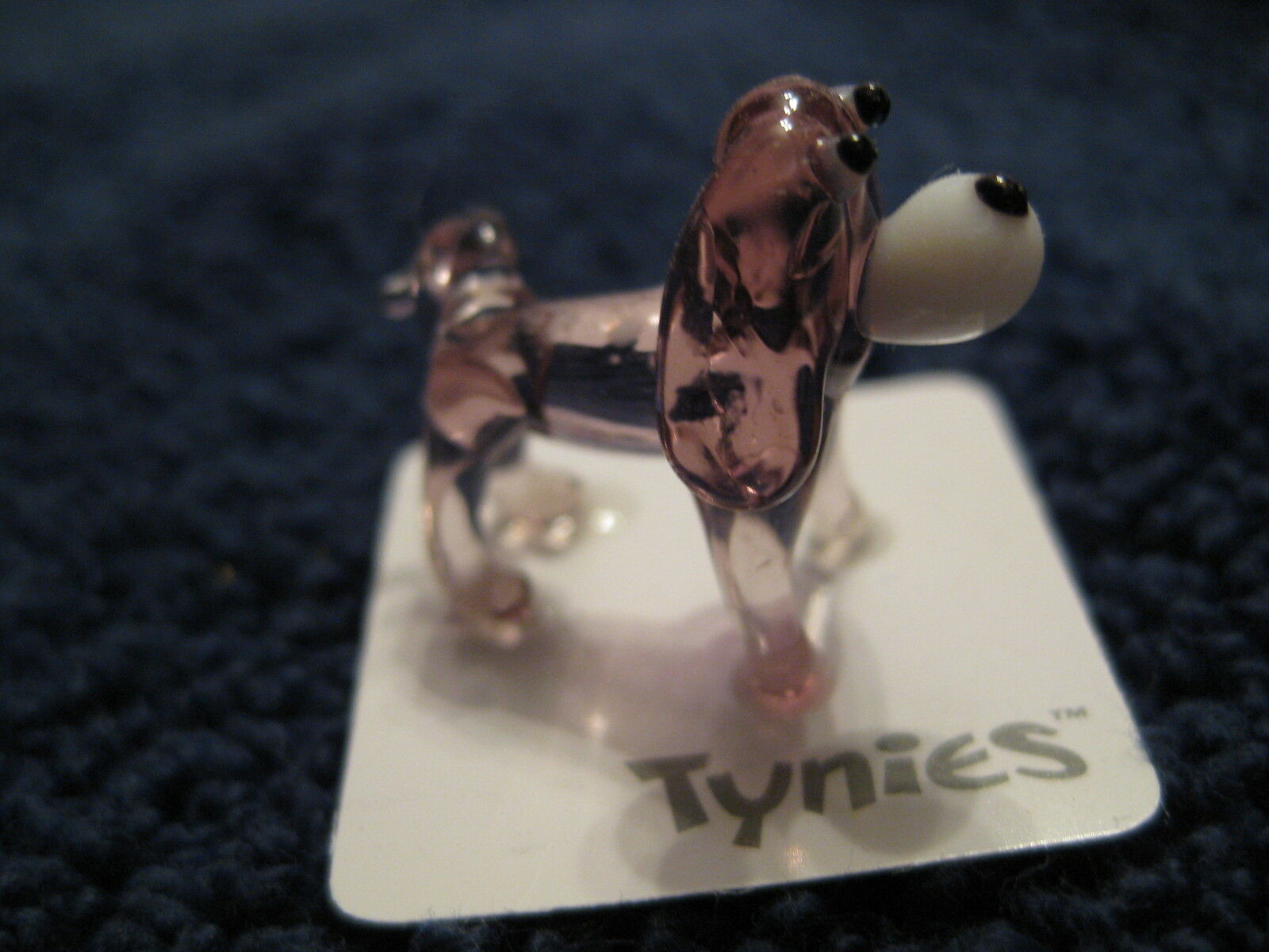 YIP PURPLE DOG TYNIES Tiny Glass Figure Figurines Collectibles NEW 0035