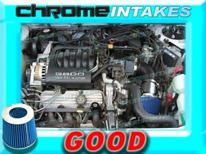 BLACK BLUE 1994 1995 1996 OLDSMOBILE CUTLASS CIERA 3.1 3.1L V6 AIR INTAKE KIT