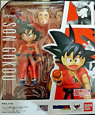 Sincero Kid Son Gokou (goku Bambino) Dragon Ball - Bandai Sh Figuarts 11cm - Nuova