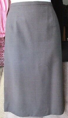 Amanda Smith Women's Gray Wool Blend Pencil Skirt Size 14