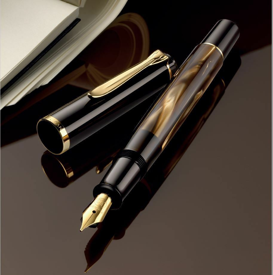 Pelikan Classic M200 Fine Resin brown-Marmoriert Special Edition -M- Pen New