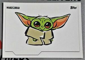 """2020 Topps The Child Baby Yoda #11 /""""Red Out/"""" Sticker Card Mandalorian //873 Grogu"""