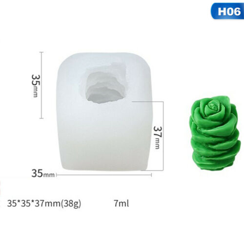 Succulent Cacti Candle Mold Moulds DIY Craft  Soap Molds Plaster Silicone Csy