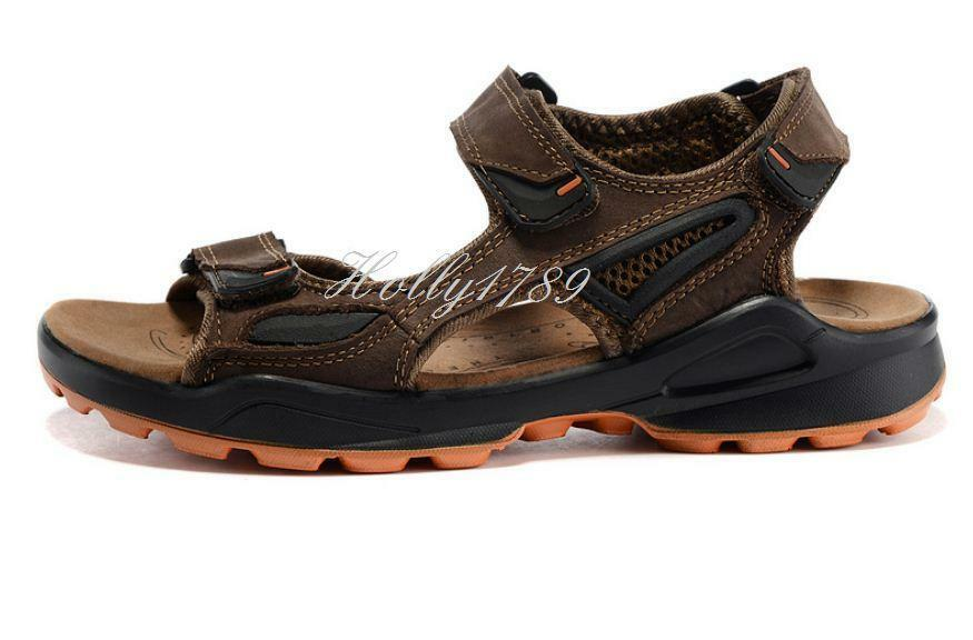 Men's Real Leather Summer Comfort Beach Shoes Open Toe Sport Sandals@plus size