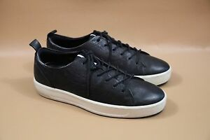 Details about #399 ECCO Soft 8 Black Leather Men Sneaker Size 44