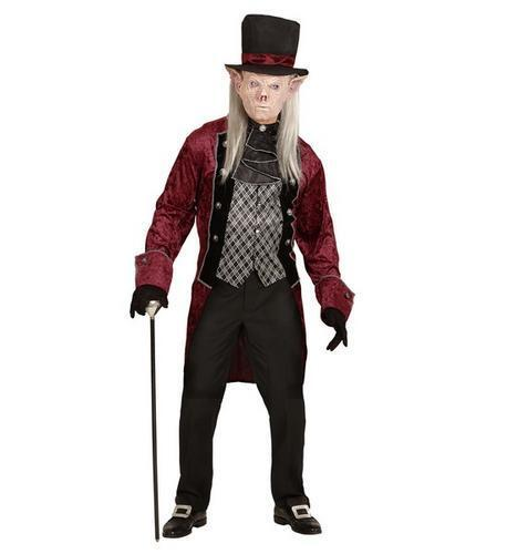 Mens Male Victorian Vampire Goblin Halloween Fancy Dress Costume Outfit Adult