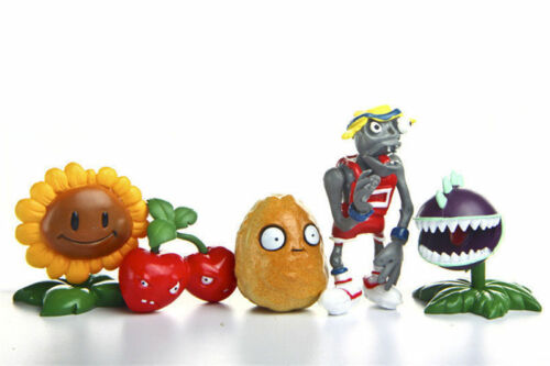 Zombies Action Figures Toy Decor Cake Topper Kids Gift Style 10pcs Plants vs
