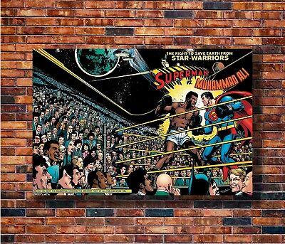 T1336 24x36 Silk Poster Muhammad Ali VS Superman Promo Fighting Boxing Sport Art