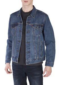 cc80639e2 Details about Levi's Men's Cotton Button Up Denim Jeans Trucker Jacket  Shelf Blue 723340136