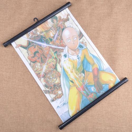Anime One Punch Man Saitama Genos Wall Scroll Hanging Posters Home Decor Cosplay