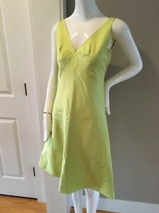 Image Is Loading J Crew Dress Rn77388 Neon Yellow Size