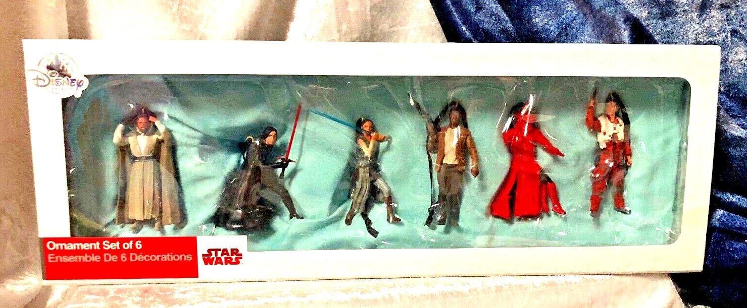 Star Wars: The Last Jedi Ornament Set of 6 Figures - NEW