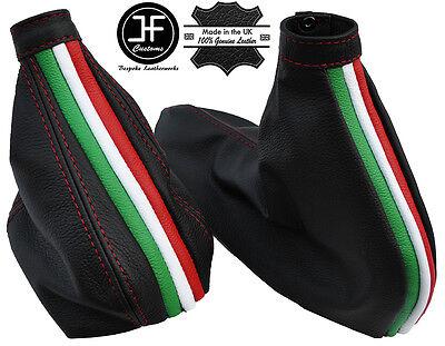 RED STITCH ITALIAN FLAG GEAR & HANDBRAKE GAITER FITS ALFA ROMEO 156 98-06