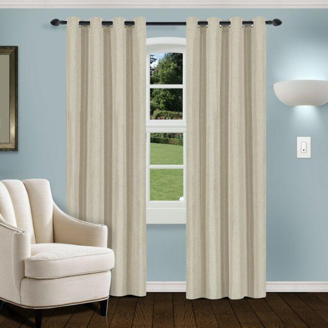 "Lush Decor Milo Linen Window Curtain Panel Pair Of 52""W X"