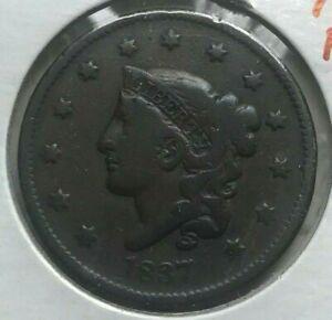 1837 Coronet Head Large Cent