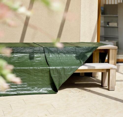 Abdeckplane Schutzplane Anhänger Pool Sandkasten 3x4m 6x8m grün