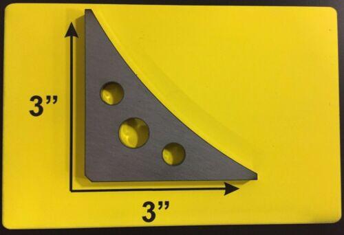 """12 Steel Weld Gussets 3/"""" X 3/"""" X 3//16/"""" A36 Steel Piece Steel Weld Gusset Set"""