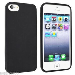 New-Slim-Soft-Skin-Silicone-Gel-Rubber-Case-Protective-Cover-iPhone-5-amp-5S-Black