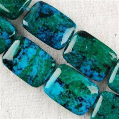 13X18mm Azurite Chrysocolla Gemstones Loose Beads   15inch