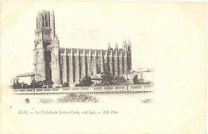 CPA-81-6-ALBI-Tarn-La-Cathedrale-Sainte-Cecile-cote-Sud-Dos-simple