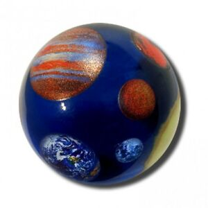 Details about Solar System Marble 35mm Boxed Art Glass Shooter by Shasta  Visions