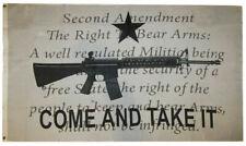 Texas Come and Take It M4 AR15 Machine Gun Flag 3/'x5/' Banner grommets