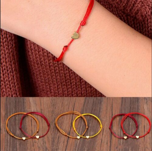Multicolor Women Men Heart Bracelet Rope String Jewelry Lucky Gifts Bracelets