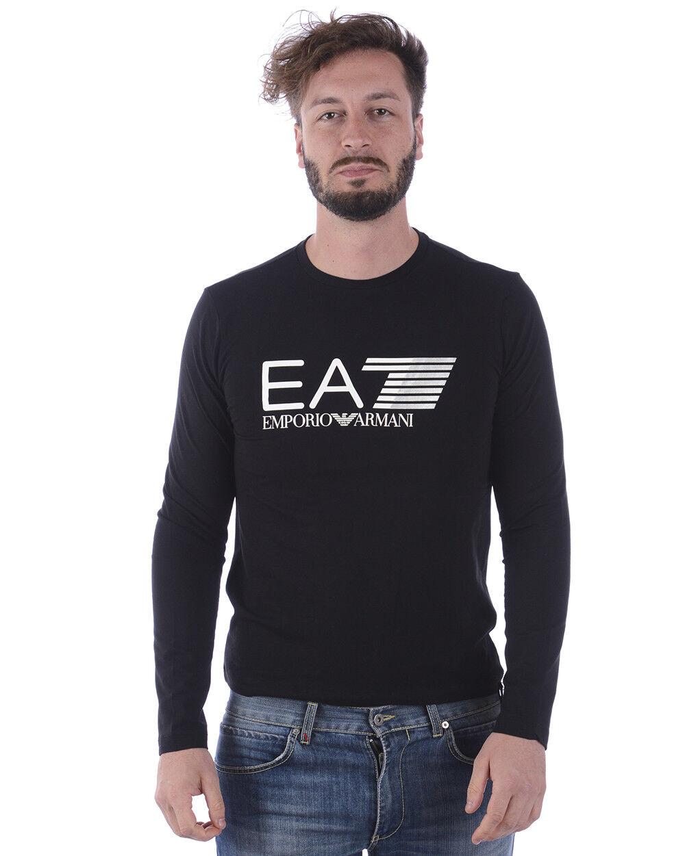 T shirt Maglietta Emporio Armani EA7 Sweatshirt  Herren Nero 3ZPT64PJ03Z 1200