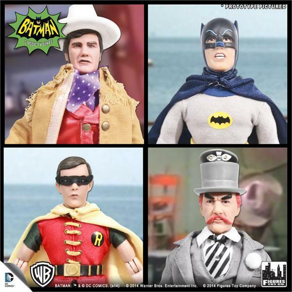 BATMAN 1966 TV SERIES 3; SET OF 4 ; 8 INCH ACTION FIGURES NEW MOSC