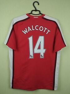 5f94c7b5c40 Arsenal jersey shirt  14 Walcott 2008 2010 Home official nike soccer ...